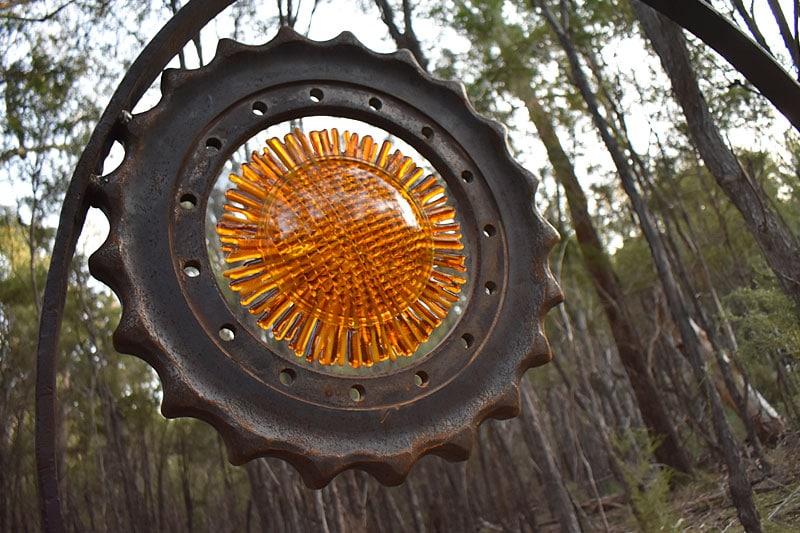 Scrap metal glass signal series handmade by Tread Sculptures in Melbourne, Australia