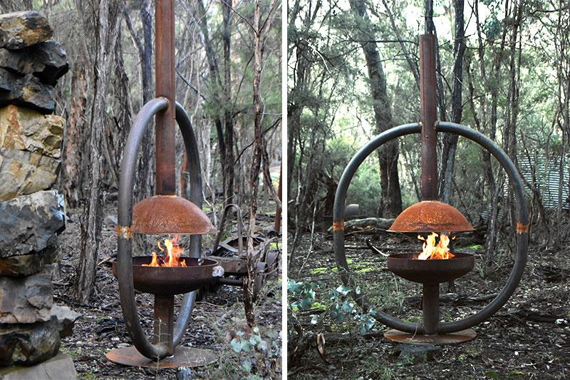 Reclaimed firepit handmade by Tread Sculptures in Melbourne, Australia