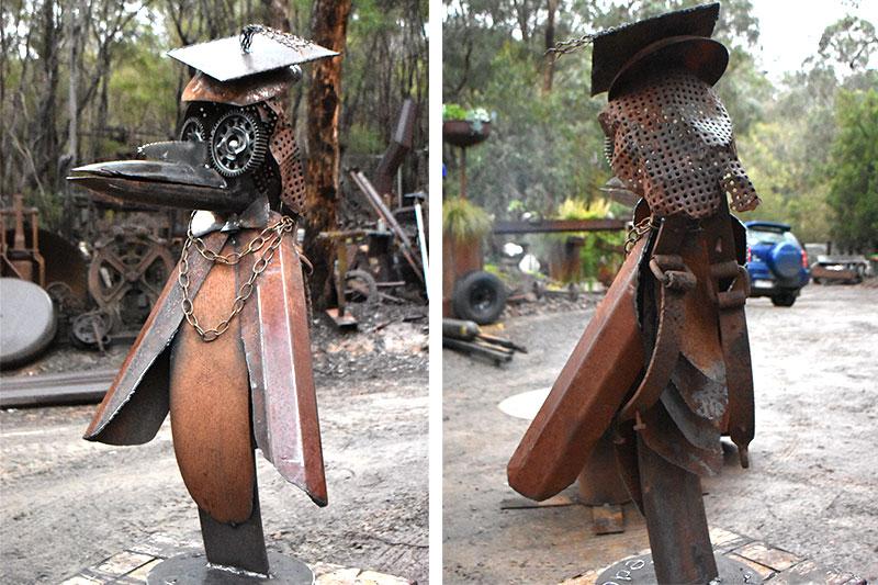 Quirky scrap metal animal handmade by Tread Sculptures in Melbourne, Australia