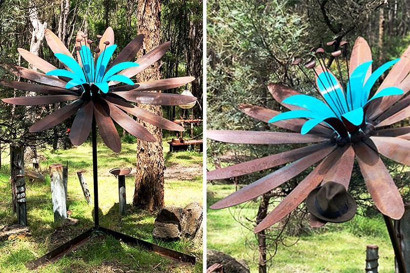Scrap metal art handmade by Tread Sculptures in Melbourne, Australia