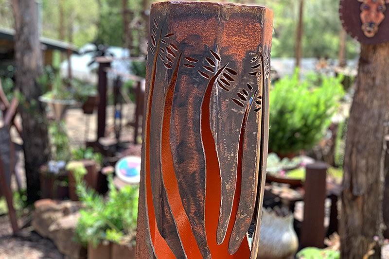 Rusty Boab bollards handmade by Tread Sculptures in Melbourne, Australia